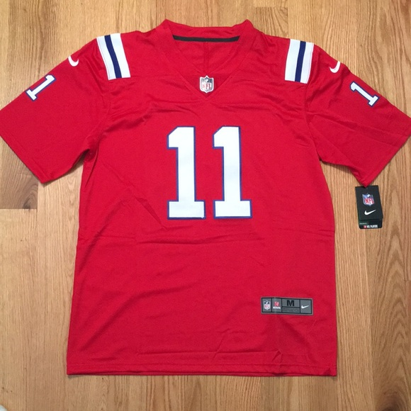 super popular cfb7c c57b5 New England Patriots #11 Edelman Jersey NWT
